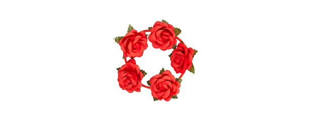 Red Rose Bun Garland Hair Band € 3,99