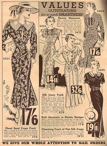 Perfecte jurken voor in de lente, jaren 30. Perfect springtime dresses, 1930's.