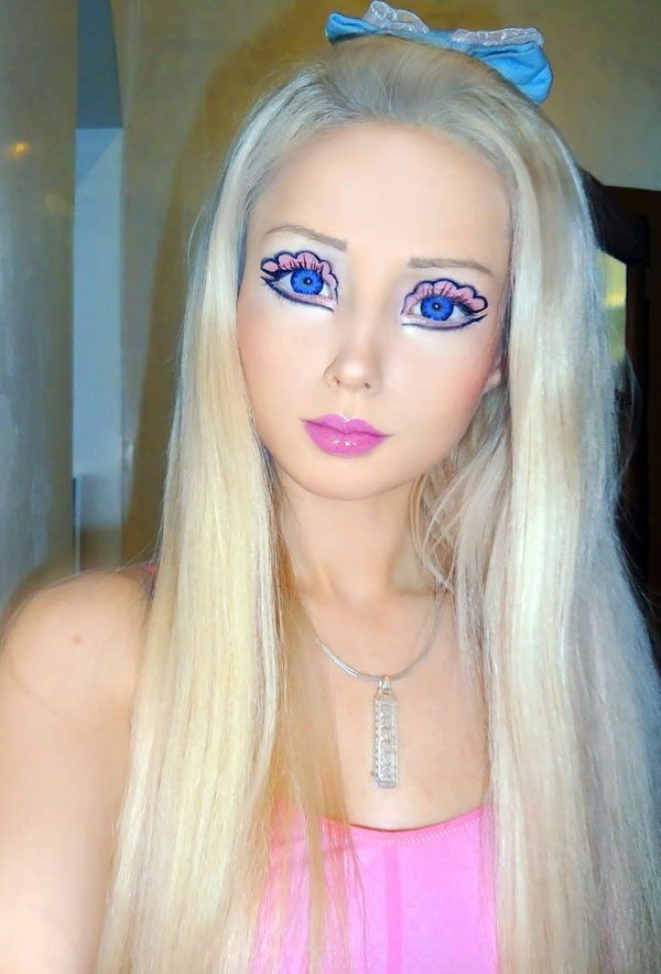 """Ukrainian model Valeria Lukyanova, a.k.a. the """"Human Barbie,"""" is easily one of the most fascinating people on earth the Internet. With the help of plastic surgery, serious makeup skills, and a light and air diet, Valeria maintains her appearance as a living doll. But, of course, she is more than just a Barbie IRL: Valeria is a spiritual teacher who specializes in out-of-body experiences. And, no, she's not best friends with Ken — she'd rather connect with extraterrestrials: """"Aliens helped me understand everything about the creation of our world,"""" she's said. Speaking of alien life ..."""