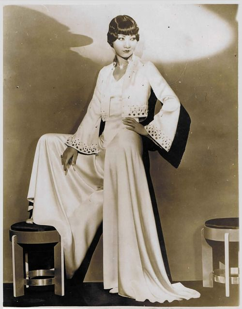 1930's jumpsuit, Anna May Wong.