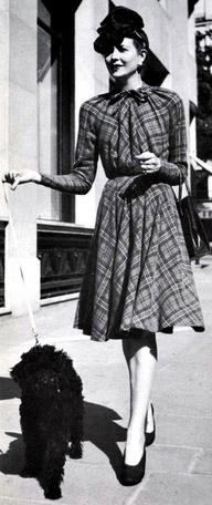 Zeer elegante fashion, eind jaren 40.