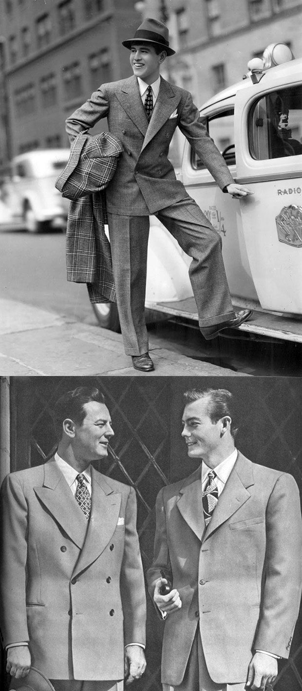 Wederom een aantal zeer stijlvol geklede mannen, jaren 40.