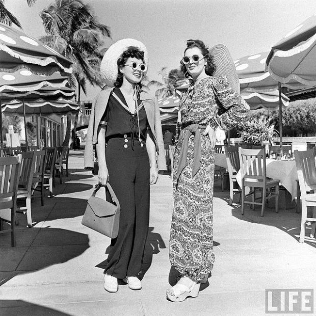 Strandmode/Beach wear, Miami. Jaren 40, LIFE magazine.
