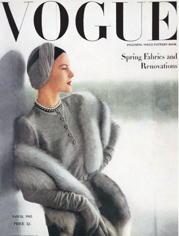 Vogue UK cover, maart 1945.
