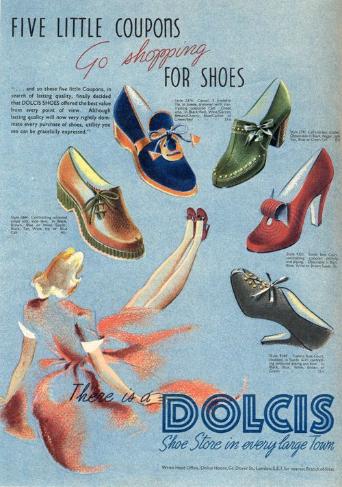 Dolcis schoenen advertentie, september 1941.