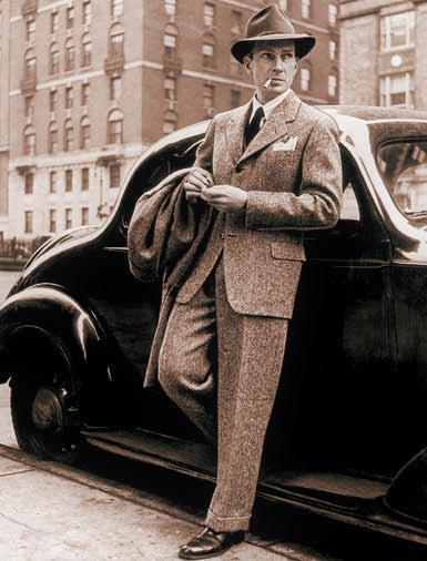 Mannenmode jaren 40. How classy!
