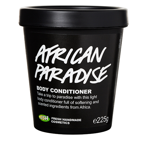Deze bodyconditioner zit tjokvol verzorgende ingrediënten uit schitterend Afrika, zoals amandel- en moringa-olie, verse aloë-gel, verse mango-sap, fair trade shea boter, marula- en baobab-olie. African Paradise Body Conditioner geeft je een heerlijke zachte huid met een exotische geur. Je gebruikt deze conditioner zoals je een haarconditioner zou gebruiken: Verdeel het over je schone, natte huid, laat het even intrekken, afspoelen, dep je huid daarna voorzichtig droog. Je hebt geen bodylotion meer nodig en ruikt goddelijk.