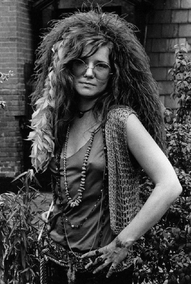 Janis Joplin, American singer/songwriter, '60s icon. Overleed aan een overdosis heroïne in 1970.