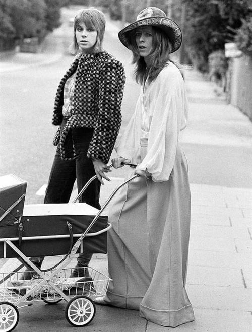 David & Angie Bowie, 1971.