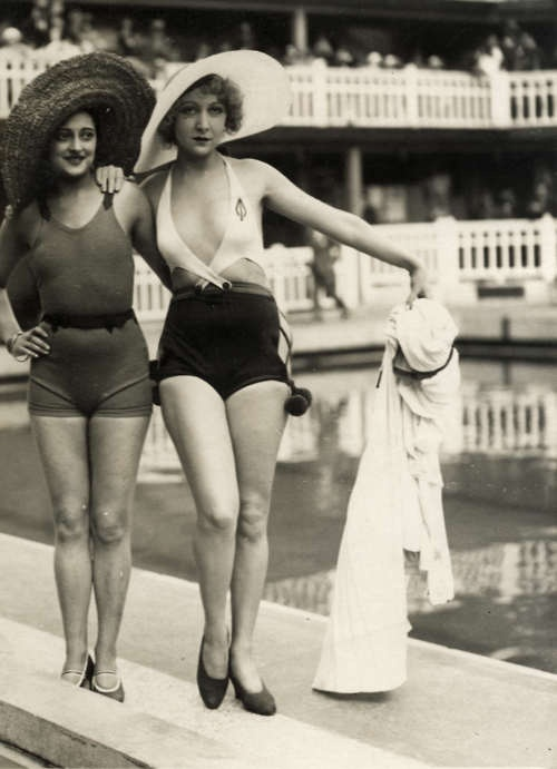 Chillin' at the pool, 1920's.