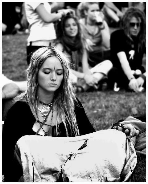 1960's hippie girl.