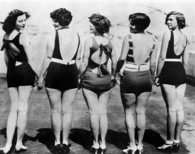 Bathing suits, 1920's.