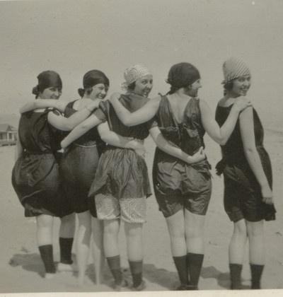 Last days of summer, Alki Beach, Seattle, 1920's.