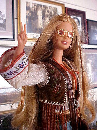 Hippie barbie. Begin jaren 70.
