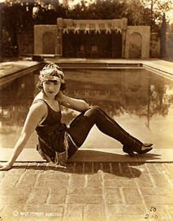 Another Bathing Beauty, Backyard Pool, 1920's.