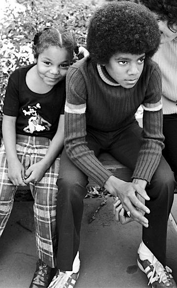 Michael Jackson & zusje Janet Jackson in de jaren 70.