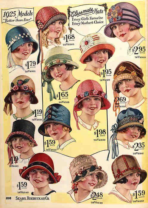 Summer hats, 1925.