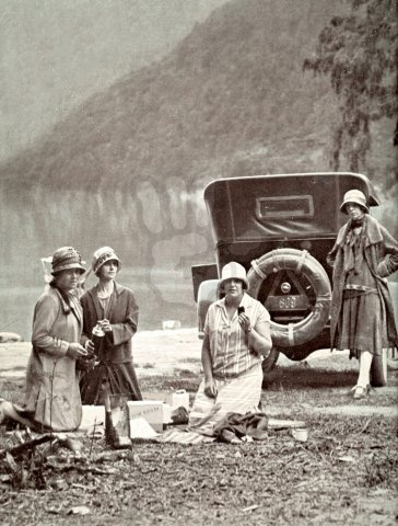 Beach picnic, 1920's.