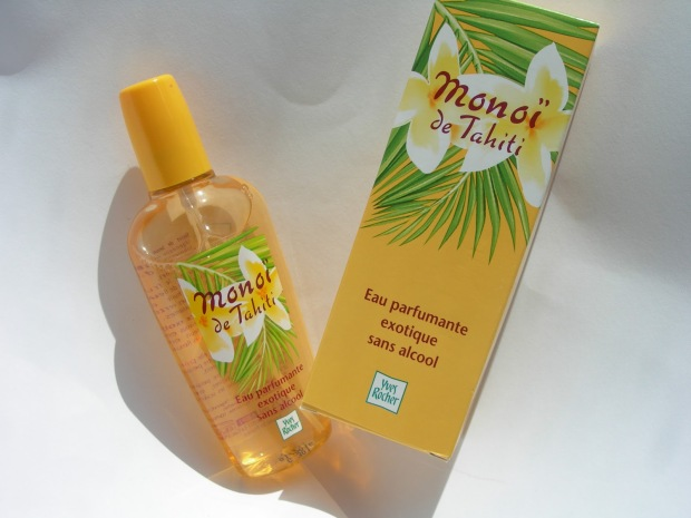 Monoi de Tahiti Eau de Toilette. Ik heb werom een verouderde verpakking in mijn collectie. Snel maar eens een nieuwe kopen!