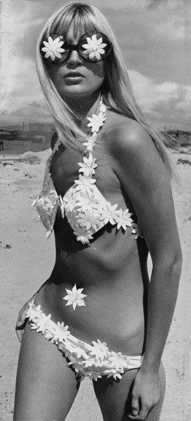 Hippie beachwear. Eind jaren 60.