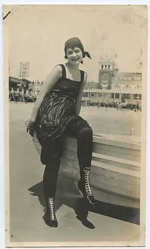 Atlantic City beach, 1920's.