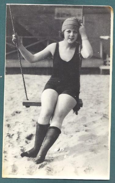 Beach swing, 1920's.