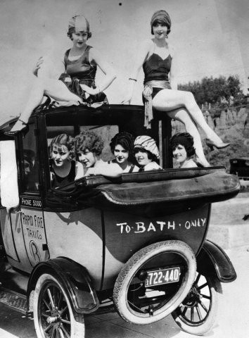 """To bath only"", 1920's."