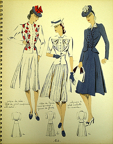 WWII fashion.