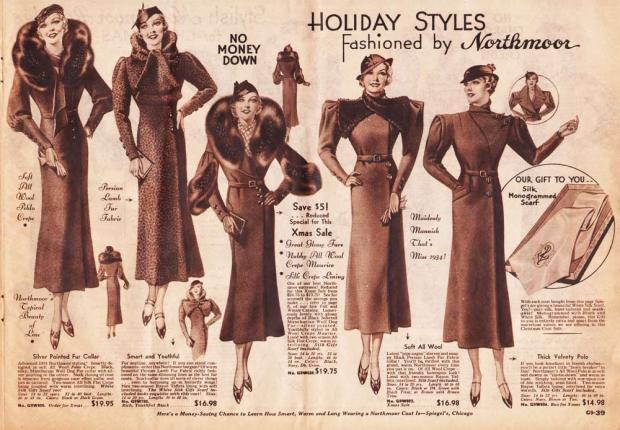 Mode in de jaren 30.