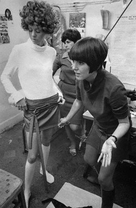 Mary Quant at work.
