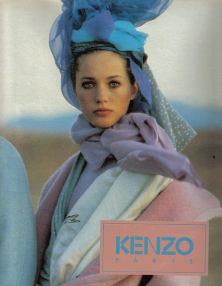 Kenzo advertentie uit de jaren 70.