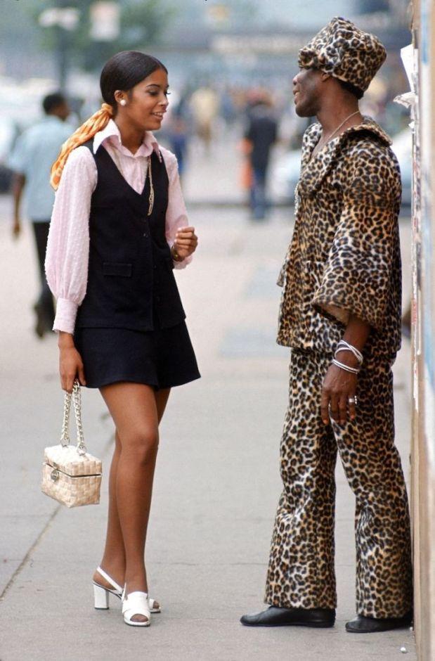 Street fashion, New York City, 1969.