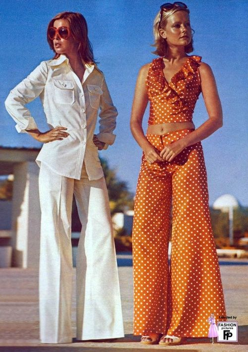 Superseventies: 1970s pantsuit fashions.