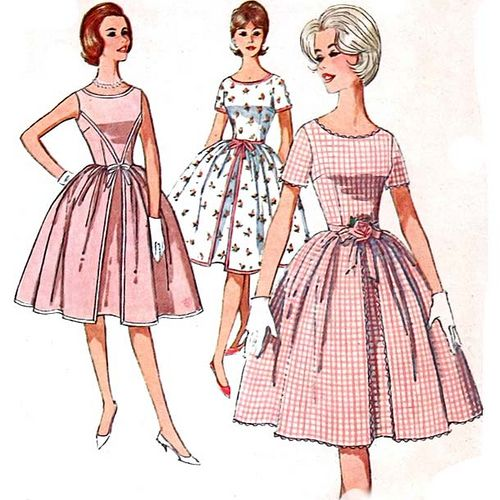 1960's summer dresses sewing pattern.