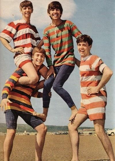 The Beatles on the beach!