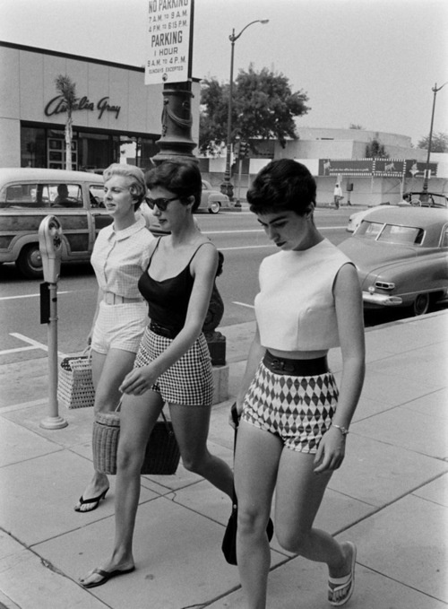 When booty shorts were classy, 1960's.