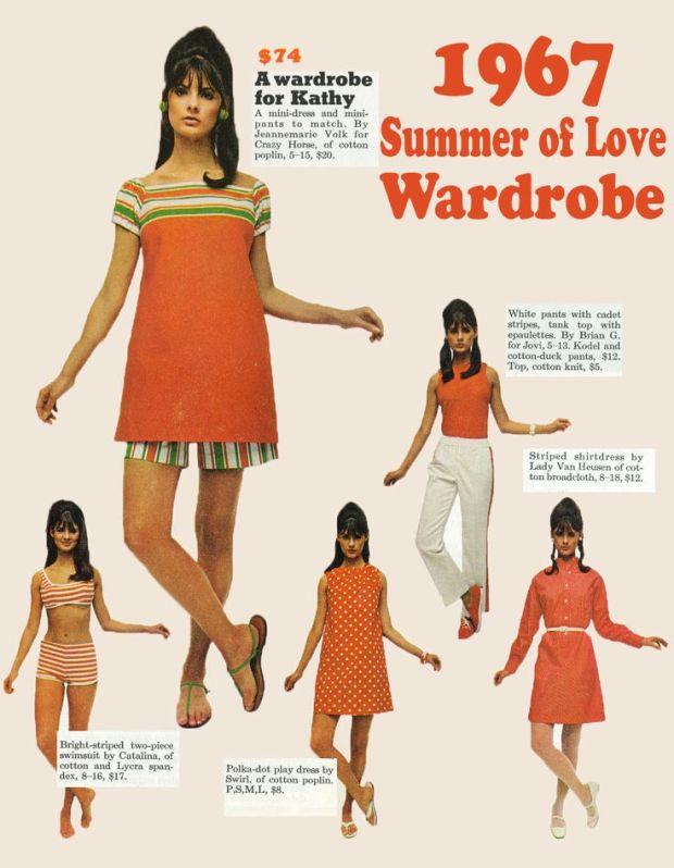 Summer of love wardrobe, 1967.