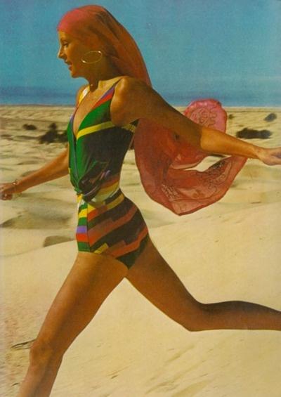 1970s beach wear.