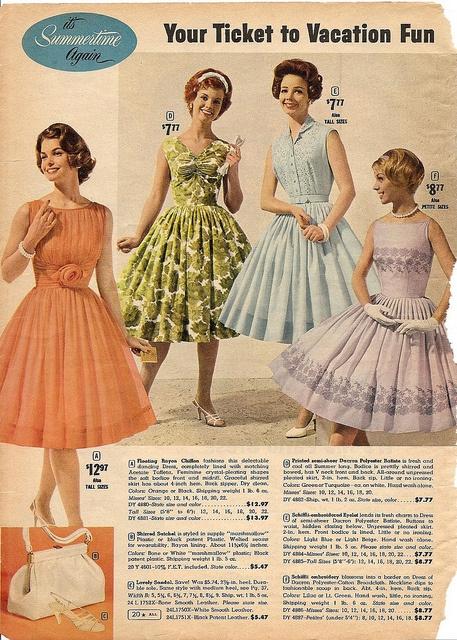 Ward summer catalog summer fashion 1961.