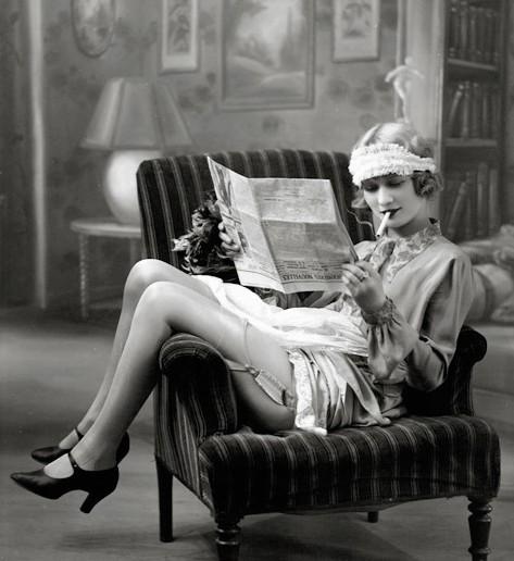 Flapper girl uit de jaren 20.