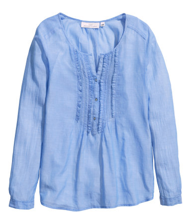 Katoenen blouse in blauw, €24,99