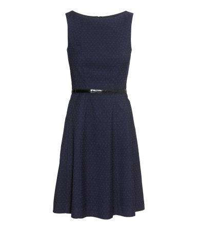 Mouwloze jurk in Donkerblauw, €29,99