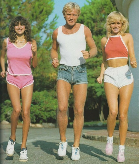 Shorter than short shorts, ook voor mannen. Circa 1972.
