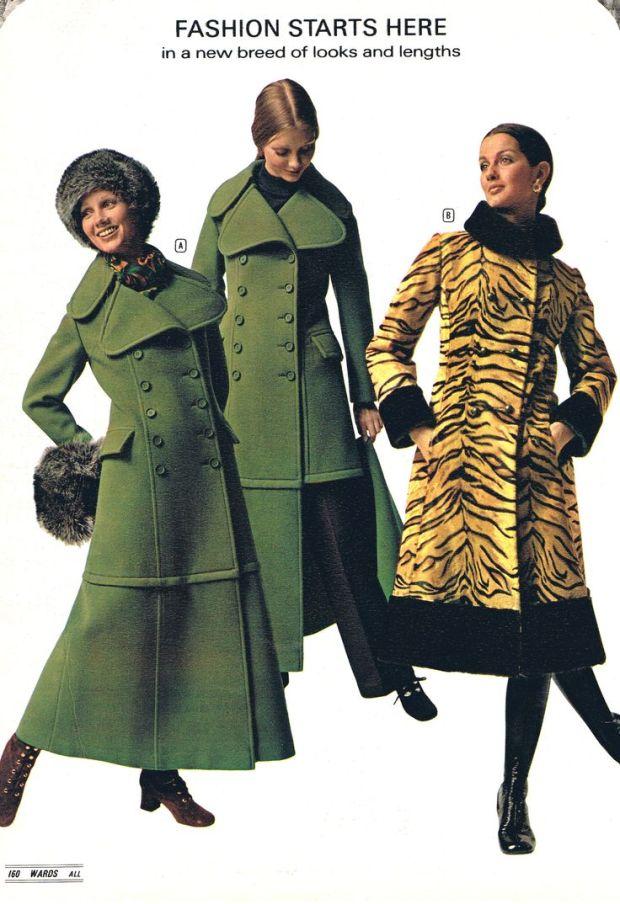 Maxi coats, 1971.