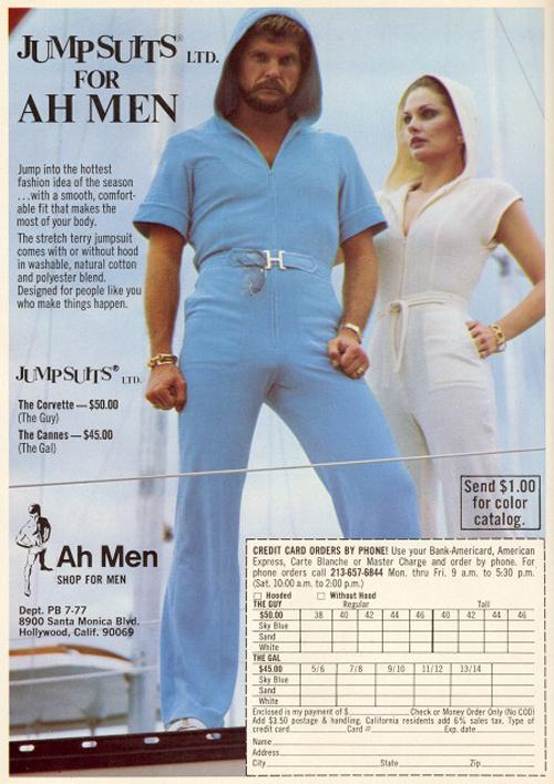 Jumpsuits voor mannen...Yikes!