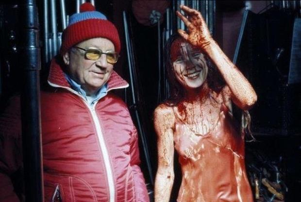 Carrie (gespeeld door Sissy Spacek) had een boel lol op de set.