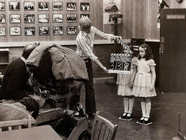 De angstaanjagende tweelingzusjes uit The Shining. Ze waren toch echt heel schattig in het echt!