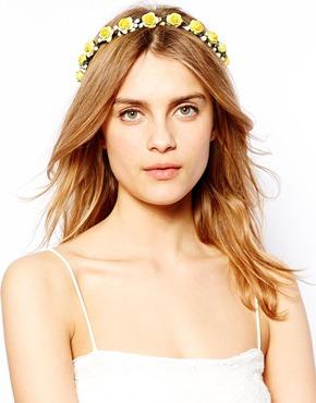 Johnny Loves Rosie Eden Yellow Flower Headband €22,75.