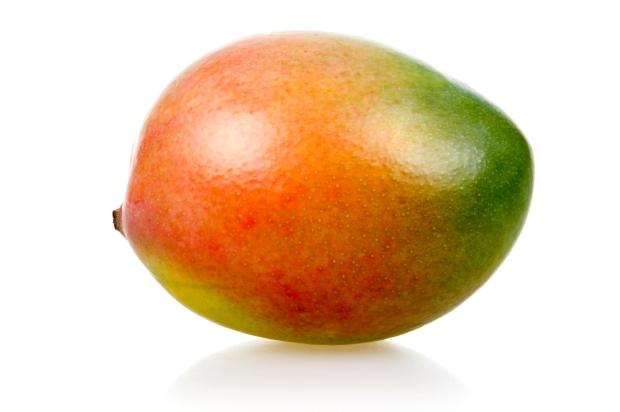 Ripe mango fruit isolated