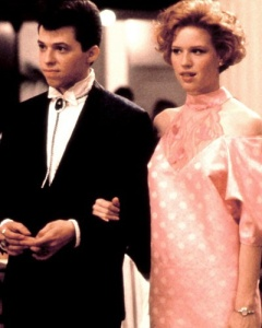 Andie (Molly Ringwald) in her prom dress, Pretty in Pink, 1986.